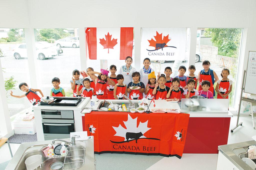 こごまちゃん親子とカナダビーフ親子料理教室!子どもも大人もピース!!